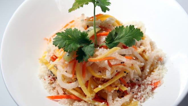 Vietnamese salad prepared at the Haiku Asian Bistro and Sushi Bar in White Plains, photographed Oct. 24, 2011.