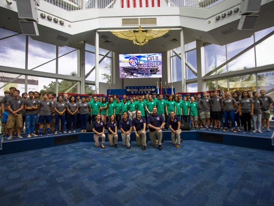 The National Flight Academy's 17-06 class poses for
