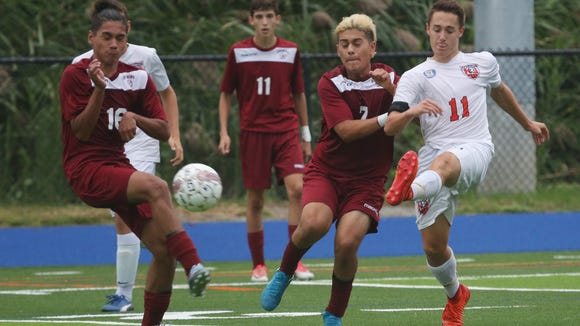 Greeley defeated Ossining 3-2 in boys soccer action