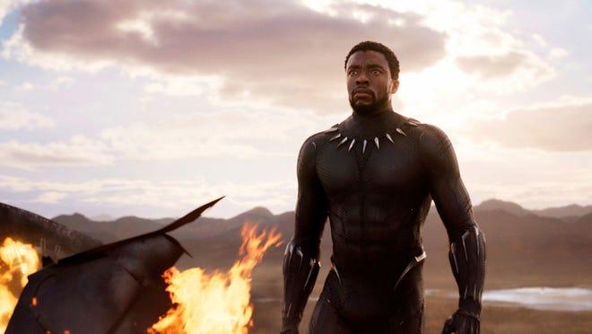"Chadwick Boseman stars in ""Black Panther,"" in theaters on Feb. 16."