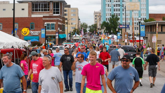 Scenes from the 7th Annual Birthplace of Route 66 Festival in downtown Springfield on Saturday, August 12, 2017.