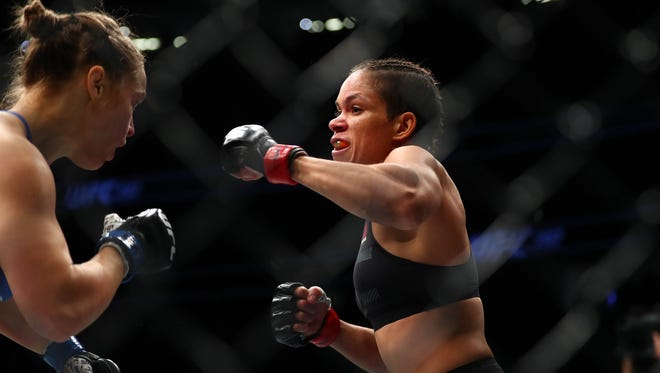 Amanda Nunes knocked Ronda Rousey out of UFC 207 in less than a minute.