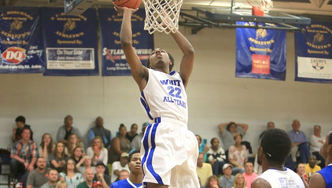 Erwin's Malik Moore played in last month's Blue-White All-Star basketball game in Skyland.