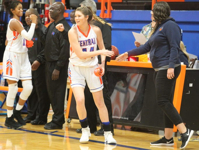 Central High School's Cadye Nelms was all smiles during