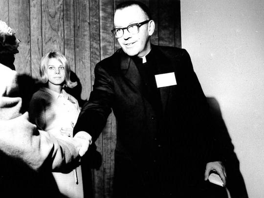 The Rev. Philip Branon, UVM Catholic chaplain in the 1960s.