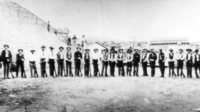 There were 26 Arizona Rangers in 1903, gathered here for a photo in Morenci.