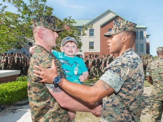 Marine saves child's life
