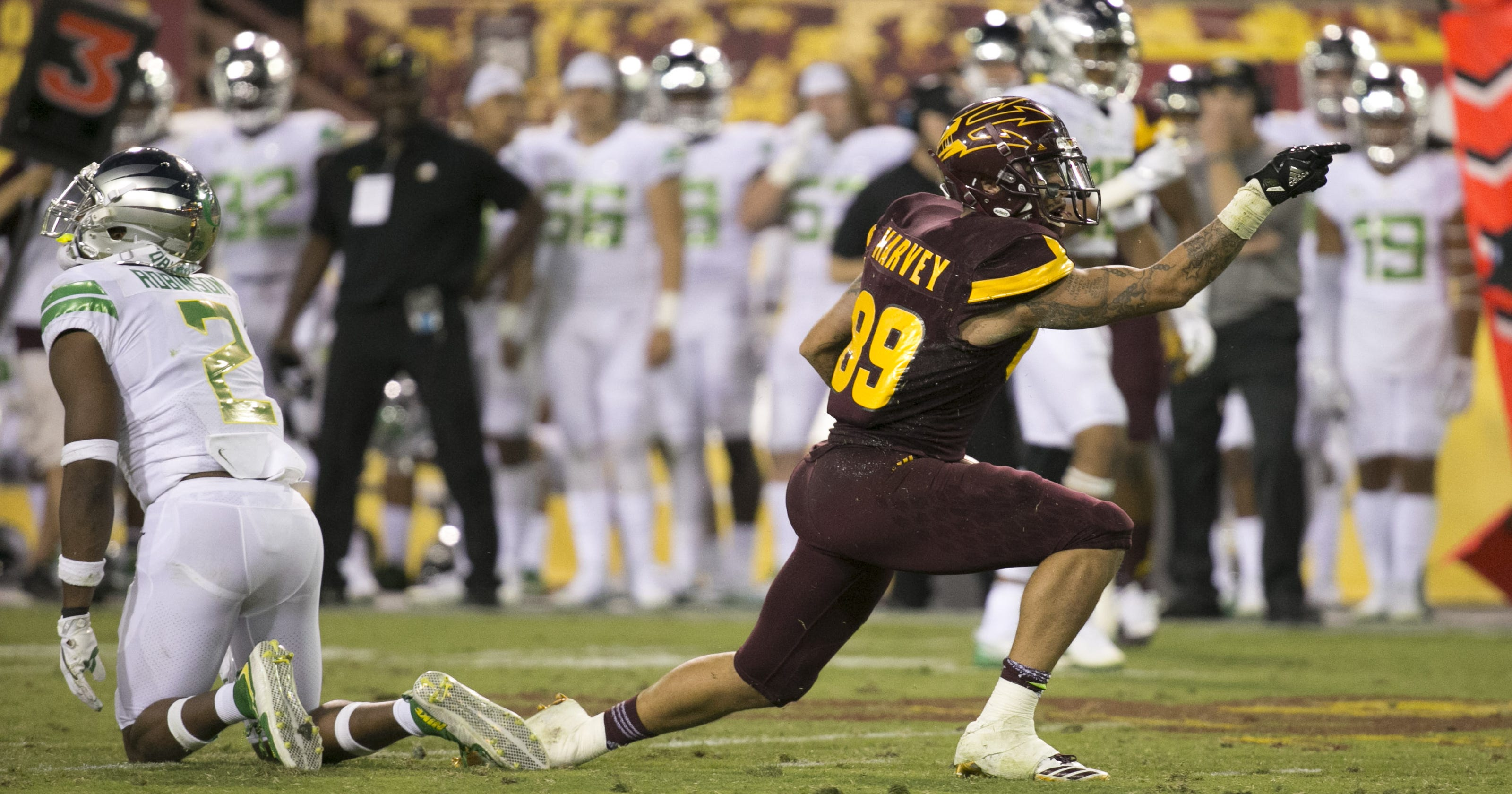 quality design 40c47 a3a97 Why ASU football WR Jalen Harvey reminds Todd Graham of himself