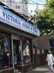 The exterior of Victoria Audio & Video in Paterson