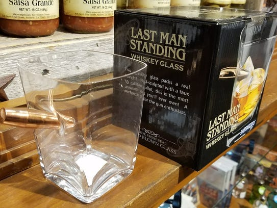 A shot glass from Frontier Texas! Get it? For the man who truly has everything. (And actually, it's whiskey-sized.)