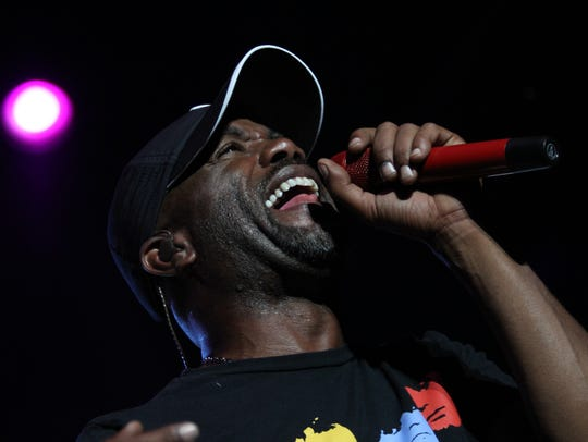 Darius Rucker performs at the Iowa State Fair Grandstand in 2010.