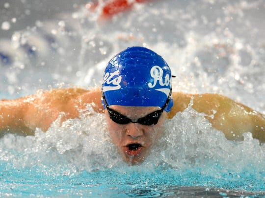 Josiah Kline is one of the senior leaders for the Spring Grove boys' swimming team. Kline, who set the school record in the 100 breaststroke, will race in the 200 individual medley and the 100 breaststroke in this weekend's York-Adams League Championships.