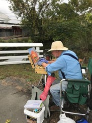 Among several Plein Air artists that captured local