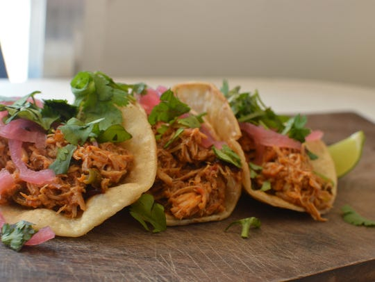The chipotle chicken tacos are currently available