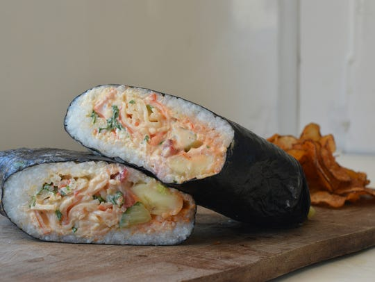 The sushi beaurito, a sushi-burrito hybrid, is currently