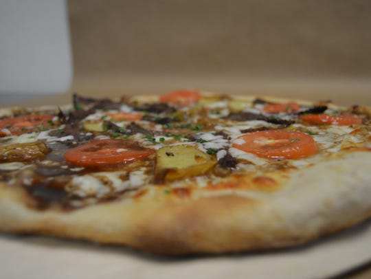The Get Shorty pizza at Stone Fire Grille is topped
