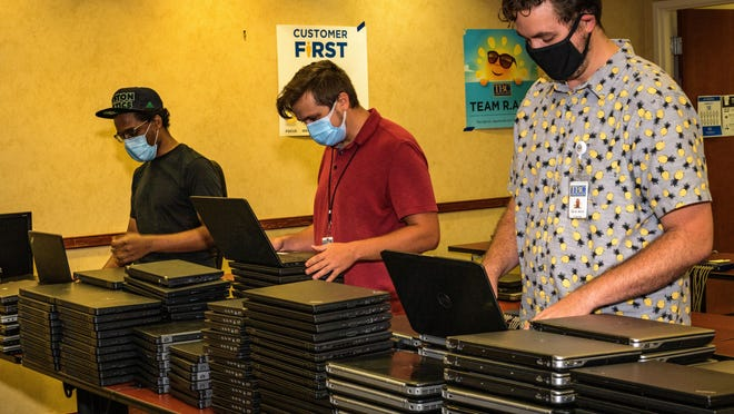 TBC Corporation donated 200 laptops to Everglades Preparatory Academy and Glades Academy Charter School in Pahokee in an effort to support remote learning amid the novel coronavirus pandemic.