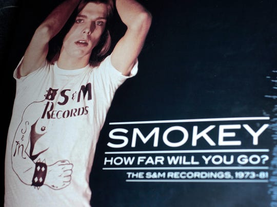 """John """"Smokey"""" Condon poses on the cover of his 1970's album, """"How Far Will You Go?"""" which is being re-released this week."""