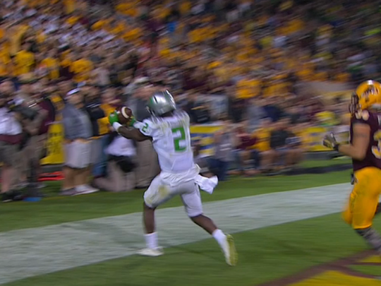 The first look of Bralon Addison's touchdown wasn't
