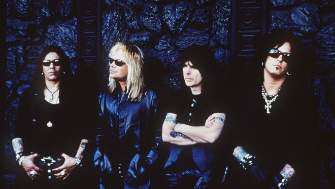 Motley Crue, minus drummer Tommy Lee on this 2000 tour, is known for hits such as Dr. Feelgood and Girls, Girls, Girls.