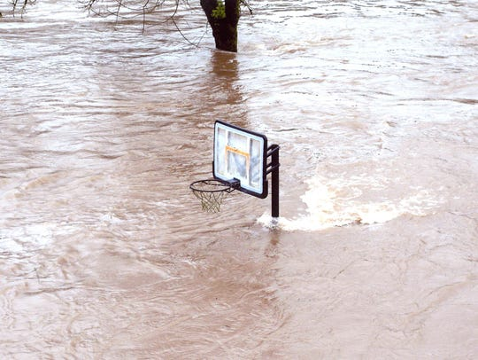 Anyone up for a game of water polo? Basketball hoop