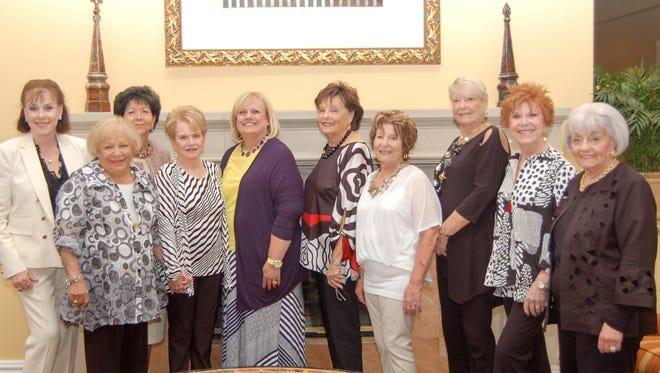 Gildas Friends Luncheon 1-2     (L-R) Gloria Davis, Barbara Stern, Maria Elena Geyer, Natalie Levy, Marci Iglow, Fran Ticknor, Marilyn Baum, Phyllis Greene, Pamla Abramson, Marlene Shapiro.