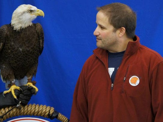 My girlfriend, Jodee and I at the National Eagle Center