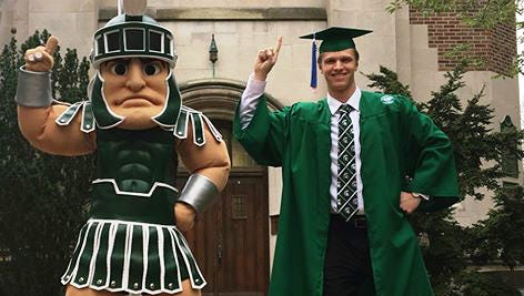 Novi grad Harrison Halley was the Spartan mascot for three years.