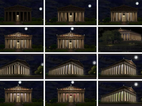 The Parthenon at Centennial Park will have new lighting
