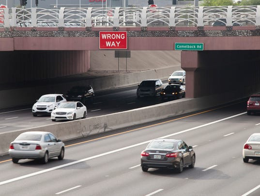 Wrong Way Sign on Interstate 17