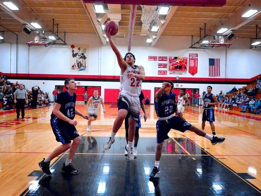 Dover hosts Garden Spot in District 3 boy's basketball