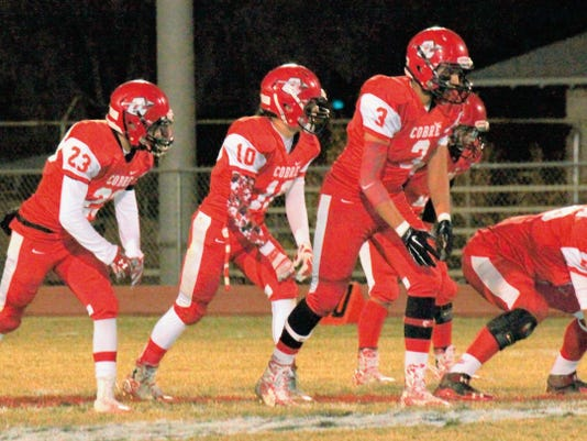 Danny Udero/Sun-News   Cobre's Damon Rivera (3) quite possibly could be the new quarterback for the Indians this season.