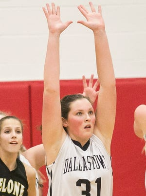 Dallastown's Sam Miller, 31, has verbally committed to play NCAA Division I basketball at Saint Francis University in Loretto. DISPATCH FILE PHOTO