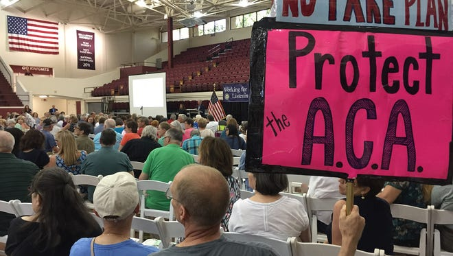More than 700 people attended a town hall U.S. Rep. John Yarmuth held Sunday on health care.  July 9, 2017