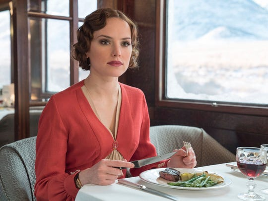 "This image released by Twentieth Century Fox shows Daisy Ridley in a scene from, ""Murder on the Orient Express."""