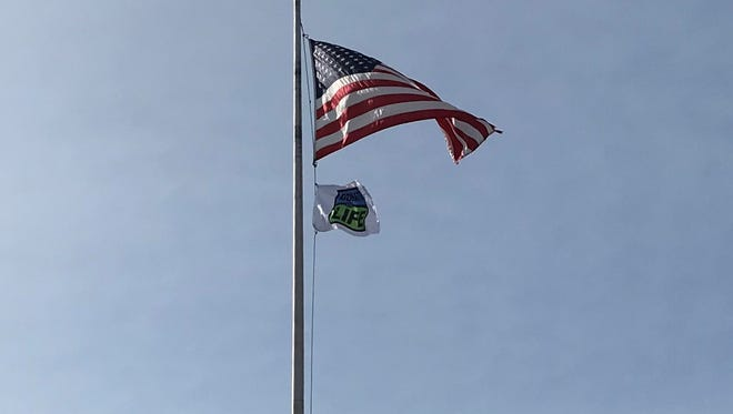 "A special ""Donate Life"" was raised in honor of National Donate Life month. Over 75 hospitals throughout the state participated in the flag raising and moment of silence."
