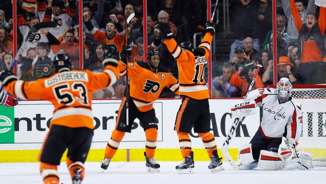 The Flyers are 2-2 this season against the Washington Capitals, their first-round playoff opponent.