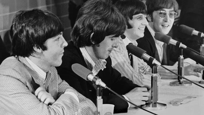Here are the Beatles - Paul McCartney, George Harrison, Ringo Starr and John Lennon - in Memphis in 1966, before their Aug. 19 performances at the Mid-South Coliseum.  They're mentioned in today's quiz, but are they ever mentioned in a correct answer? Take the quiz and find out!