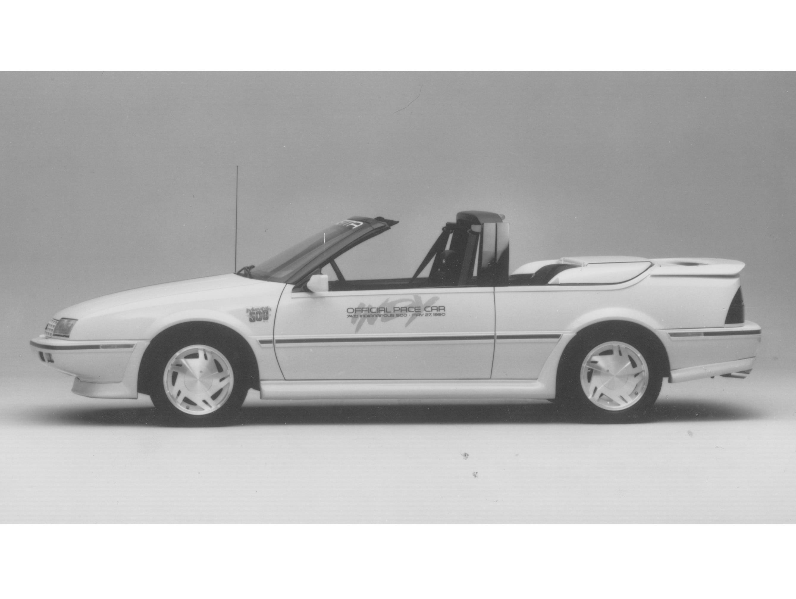 The 1990 Indianapolis 500 Pace Car was the Chevrolet Beretta convertible.