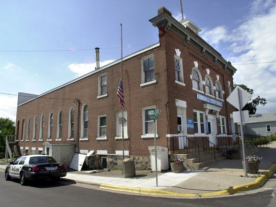 The Kimball City Hall, shown here in a St. Cloud Times