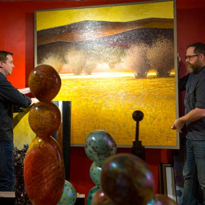 Wilde Meyer Gallery co-owner Jonathan Henderson (left)