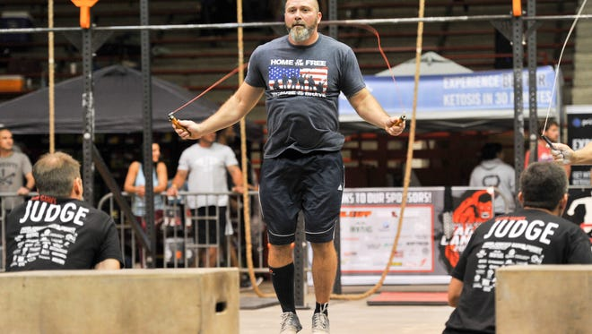 Chance Louviere competing at the Ragin Games Crossfit Games at Blackham Coliseum. October 1, 2016.