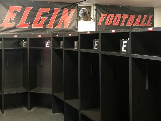 Elgin football locker room