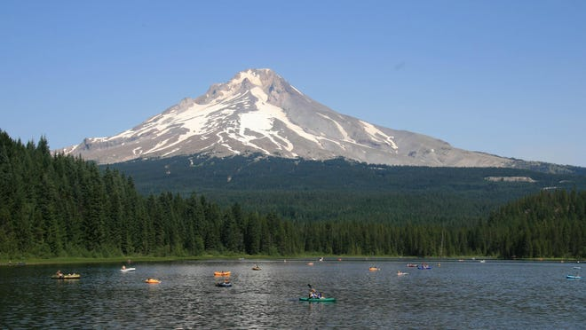 Trillium Lake is a great spot to picnic or stop for a picturesque photo of Mount Hood on the way to Timberline Lodge.