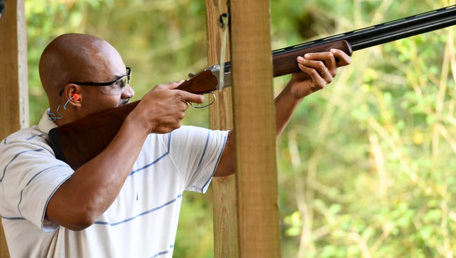 Rick Anderson at the Clay Shoot for America's Heroes on Nov. 2, 2017, at Santa Rosa Shooting Center in Pace.