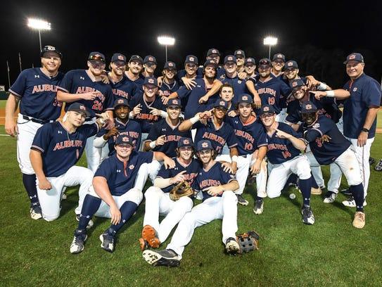 Auburn vs NC State during the NCAA Baseball Regionals