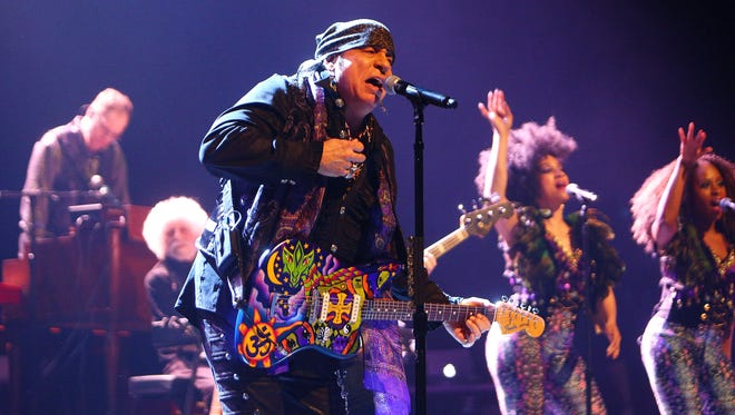 Little Steven Van Zandt brings down the house at the MayoCenter in Morristown, New Jersey, the night before his induction in the  New Jersey Hall of Fame in AsburyPark on May 5. He will perform on Nov. 16 at the Hard Rock Rocksino Northfield Park.