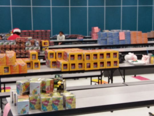 Garcia Elementary hosted families to distribute gifts donated via Toys for Tots on Friday, Dec. 16, 2016.