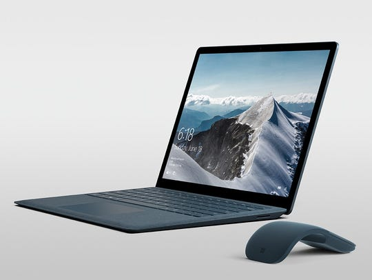 Microsoft Surface Laptop in cobalt blue with optional