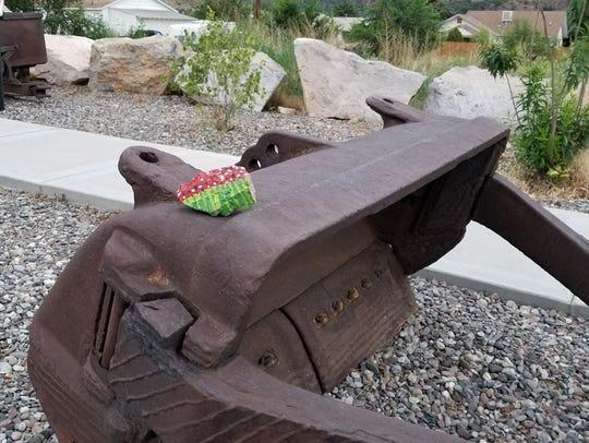 A rock hidden in Bayard by Johnny Cuellar.